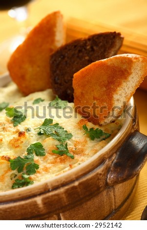 Cheese and potatoes casserole - stock photo