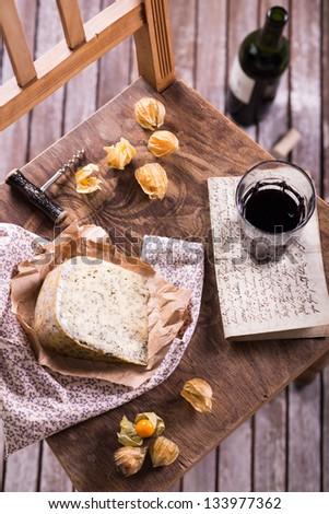 Cheese and wine - stock photo