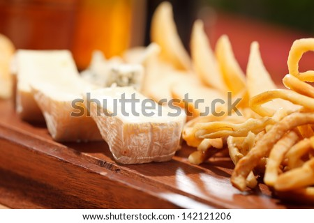 cheese appetizer - stock photo