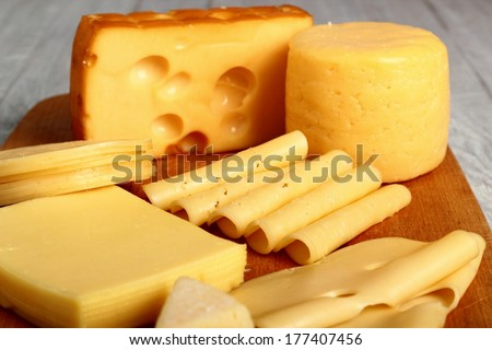Cheese Assortments. Still Life. - stock photo