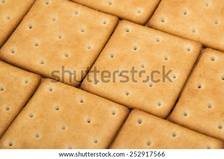 cheese crackers background - stock photo