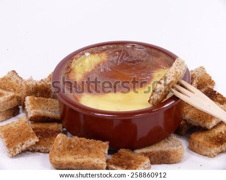 cheese fondue - stock photo