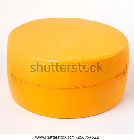 cheese in vacuum package - stock photo