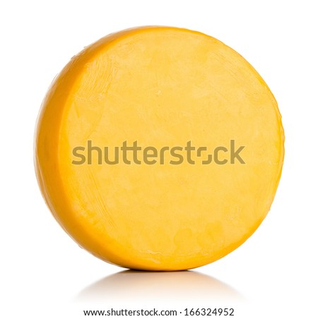 Cheese on white background. File contains a path to isolation. - stock photo