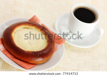 Cheese Pastry and Coffee Cup