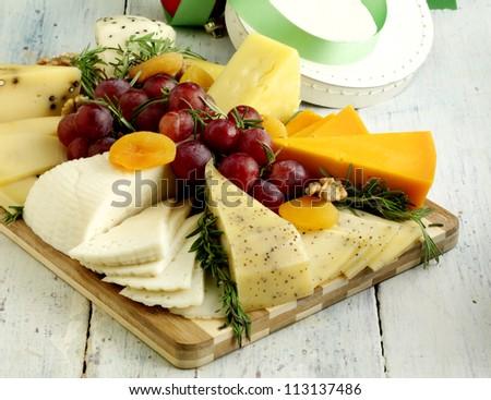cheese plate - stock photo