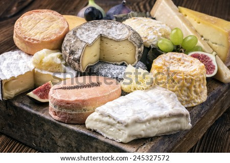 cheese plate - stock photo