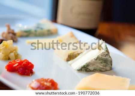 Cheese Platter - stock photo