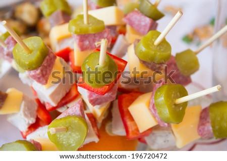 cheese snack - stock photo