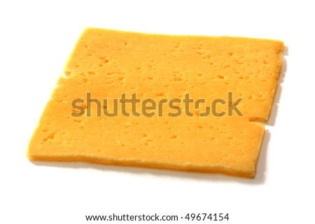 Cheese surface isolated on white