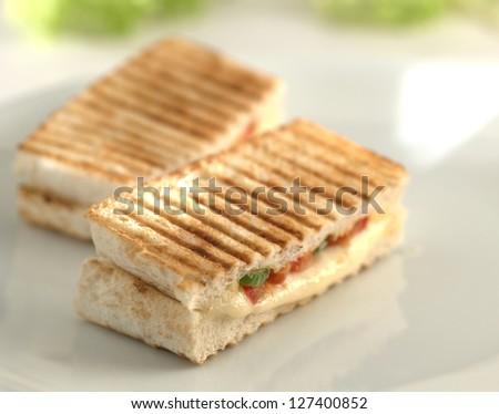 cheese toast - stock photo