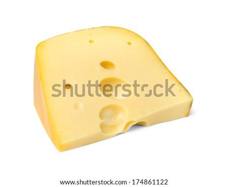 Cheese triangle edam - stock photo