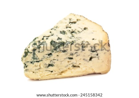 cheese with mold on white background - stock photo