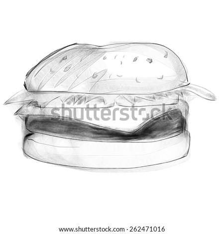cheeseburger, hamburger - stock photo