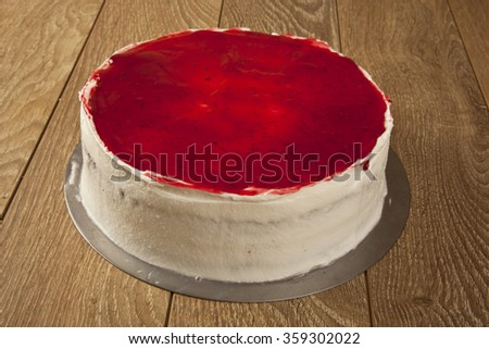 Cheesecake with Berries - stock photo