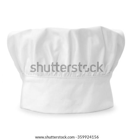 chef cap isolated on white background - stock photo