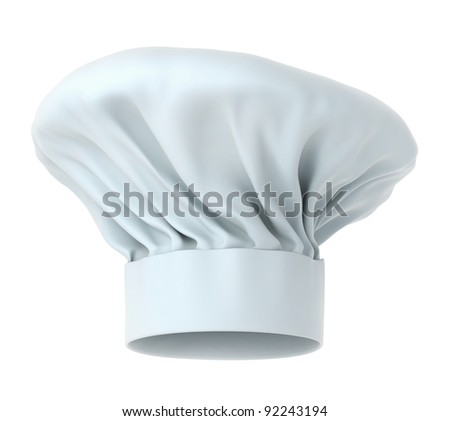 Chef hat, high detailed 3d render isolated on white background (work path included) - stock photo