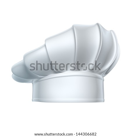 Chef hat - isolated on white background - stock photo