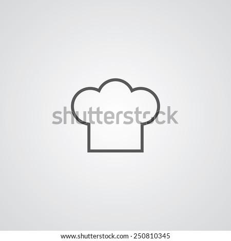 Chef Hat Outline Thin Symbol Dark Stock Illustration 250810345 ...