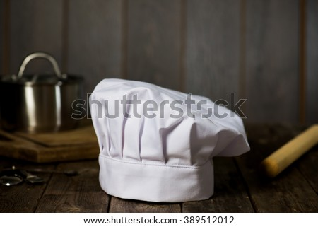 chef hat with backgrounds - stock photo