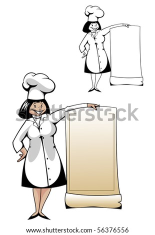 Chef in uniform - also as emblem. Vector version also available in gallery - stock photo