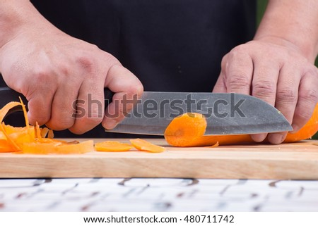 how to cut carrots for stir fry