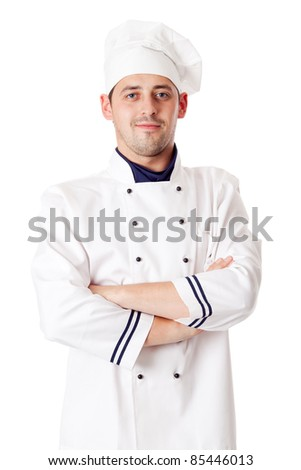 Chef man. - stock photo