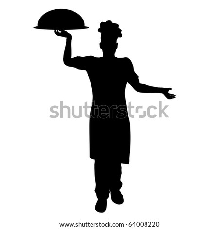Chef silhouette illustration - stock photo