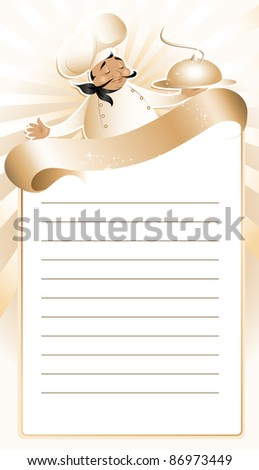 Chef with menu (also available vector version of this image) - stock photo
