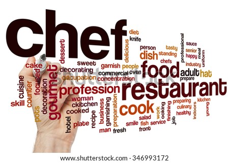 Chef word cloud - stock photo
