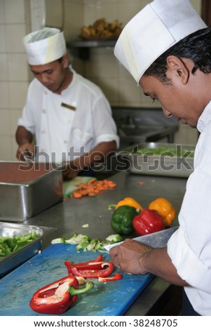 chefs at work - stock photo