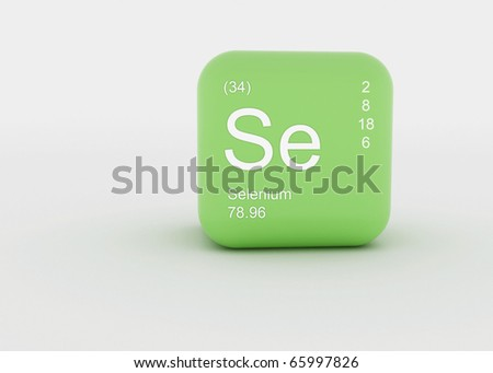 chemical ! a singel symbol, for a chemical material - stock photo