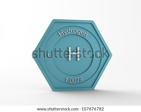 chemical ! a singel symbol, of a chemical material - stock photo