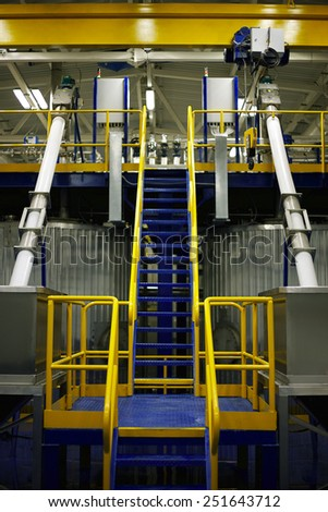 Chemical factory interior - stock photo