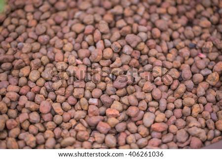 Chemical fertilizer, soil - stock photo