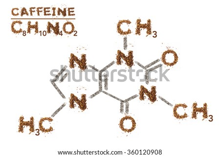 Chemical Formula Caffeine Mixed Media Artwork Stock Photo Safe To