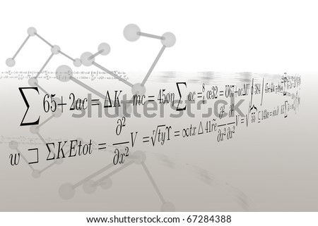 chemical formula with dna chain - stock photo