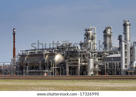 Chemical Industrial Plant - stock photo