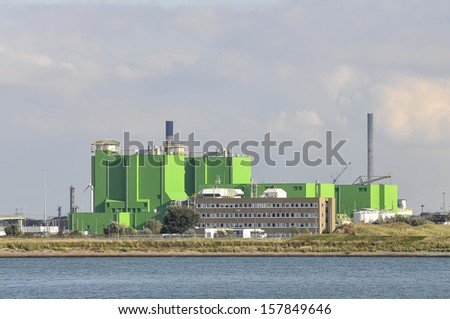 Chemical industry, which produced phosphorus and inorganic phosphorus compounds - stock photo