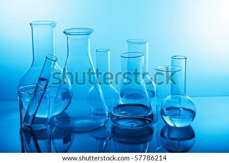 chemical laboratory equipment - stock photo