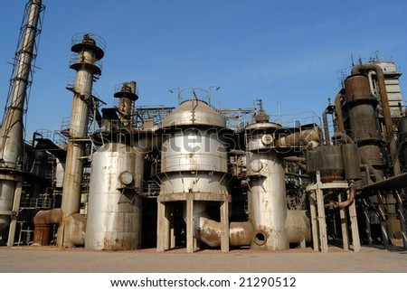 Chemical plant in China - stock photo