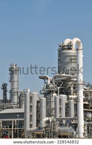 Chemical plant in the port of Rotterdam