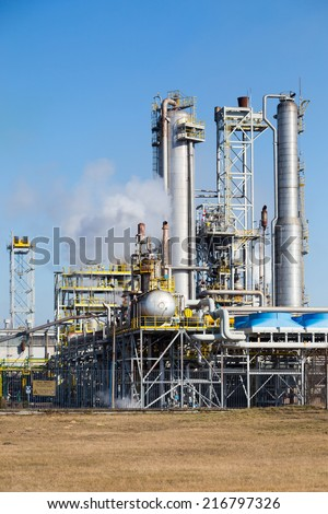 Chemical plant in Wloclawek, Poland - stock photo