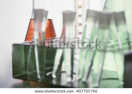 Chemical probes in laboratory - stock photo