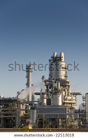 Chemical refinery plant - stock photo