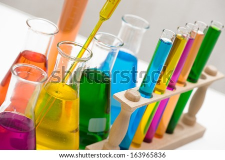 Chemical, Science, Laboratory, Test Tube, Laboratory Equipment - stock photo