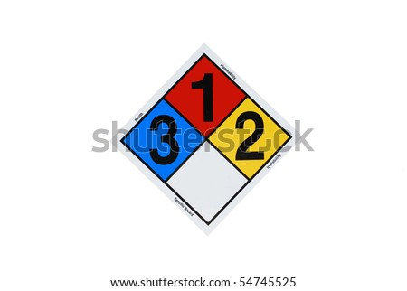chemical sign on white background - stock photo