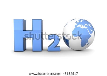 Chemical Symbol H 2 O Hydrogen Oxide Shiny Stock Illustration