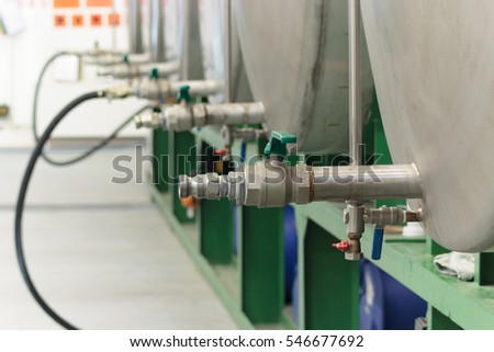 Chemical tanks valves