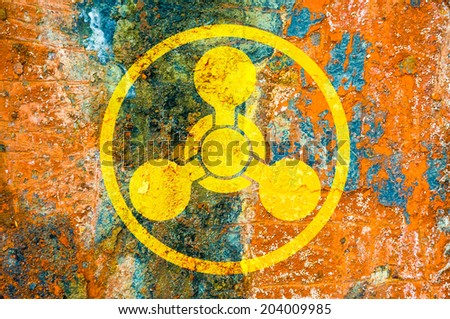 Chemical Weapons Symbol On Rust Metal Stock Photo Edit Now